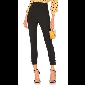 L'Academie The Ludovica Black High Rise Pants
